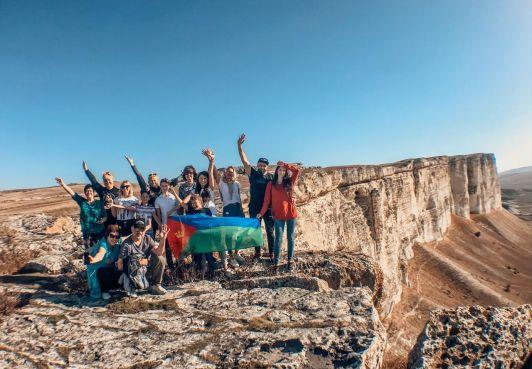 Граждане КСБ покорили Белую скалу в Крыму
